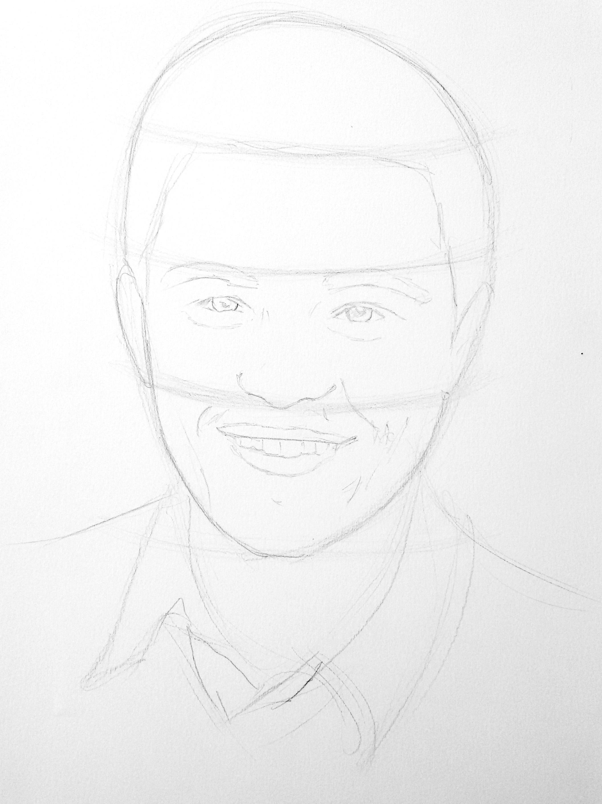 Karakalem Portre çizimi Işık Ve Gölge Uygulaması